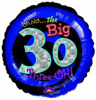 18in Oh No The Big 30 Balloon