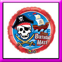 "18"" Birthday Mate Pirate Ship Balloon"