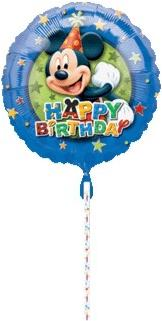 18in Mickey Birthday Stars Balloon