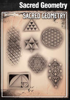 Wiser's Sacred Geometry AirBrush Tattoo Pro Stencil