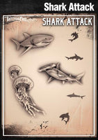 Wiser's Shark Attack AirBrush Tattoo Pro Stencil
