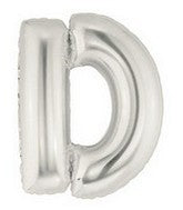 Letter Balloons - Silver 36""