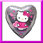 "18"" Hello Kitty Love Hearts Foil Balloon"
