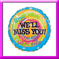 "18"" We'll Miss You Foil Balloon"