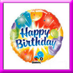 "18"" Birthday Ablaze Balloon"