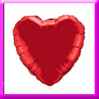 "18"" Red Heart Foil  Balloon"