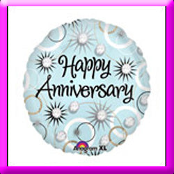 "18"" Happy Anniversary Foil Balloon"