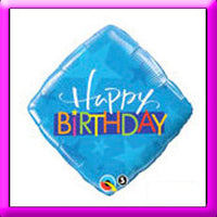 "18"" Birthday Blue Stars Balloon"