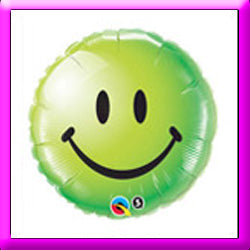 "18"" Smiley Face Green Foil Balloon"