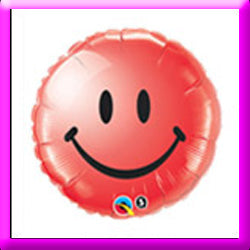 "18"" Smiley Face Red Foil Balloon"