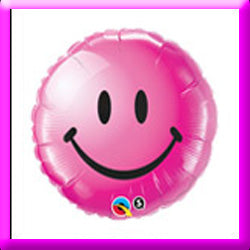 "18"" Smiley Face Wild Berry Foil Balloon"