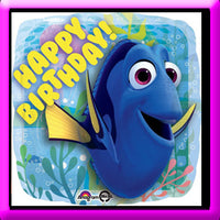 "18"" Foil Dory Happy Birthday Balloon"