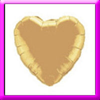 "18"" Gold Heart Foil  Balloon"
