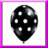 "11"" Polka Dot Latex Balloon, Assorted Colours"