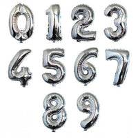 Number Balloons - Silver 34""