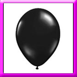 "11"" Black Latex Balloon"