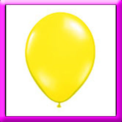 "11"" Yellow Latex Balloon"
