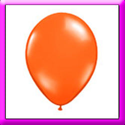 "11"" Orange Latex Balloon"