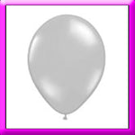 "11"" Chrome Silver Latex  Balloon"