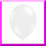 "11"" White Latex Balloon"