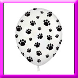 "11"" Paw Prints Latex  Balloon"