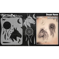 Wiser's Dream Horse AirBrush Tattoo Pro Stencil