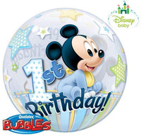 "MICKEY 1ST BDAY 22"" BUBBLES Balloon"