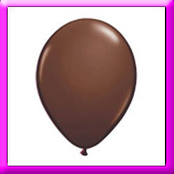"11"" Chocolate Brown Latex Balloon"