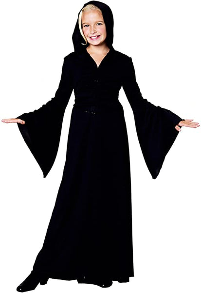 Smiffys Black Child Robe Size Medium (7-8) Halloween
