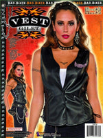 Sexy Biker Female Halloween Costume Vest Adult One Size Fits Most
