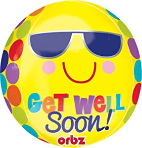 Get Well Soon Orbz Balloon