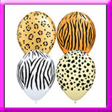 "11"" Safari Print Latex Balloon"