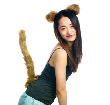 Lion tail and ears Halloween costume