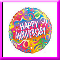 "18"" Happy Anniversary Foil Balloon Assorted Designs"