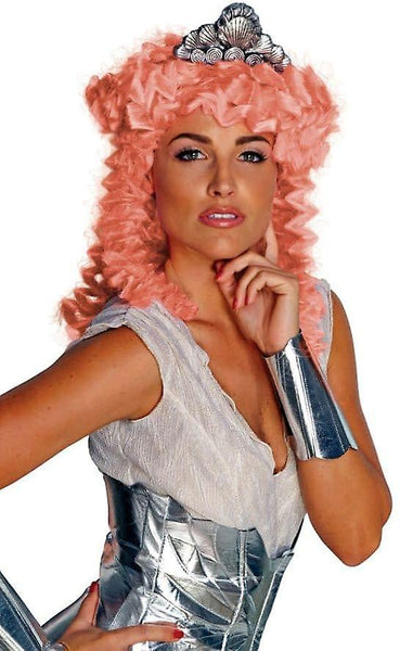 Clash of the Titans Aphrodite Pink Hair and Headpiece - Adult Size Halloween Accessory