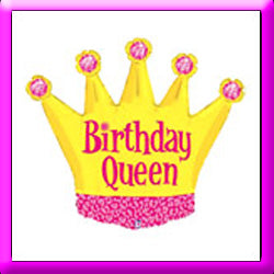 "36"" Birthday Queen Crown SuperShape Balloon"
