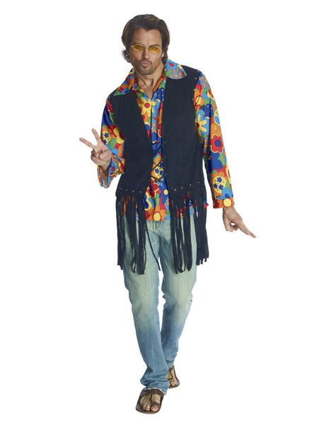 Rubies Costume Heroes and Hombres Adult Flower Power Halloween Costume Vest