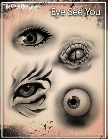 Wiser's Eye See You Tattoo Pro Stencil 2