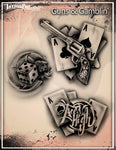 Wiser's Guns & Gamblin Tattoo Pro Stencil 2