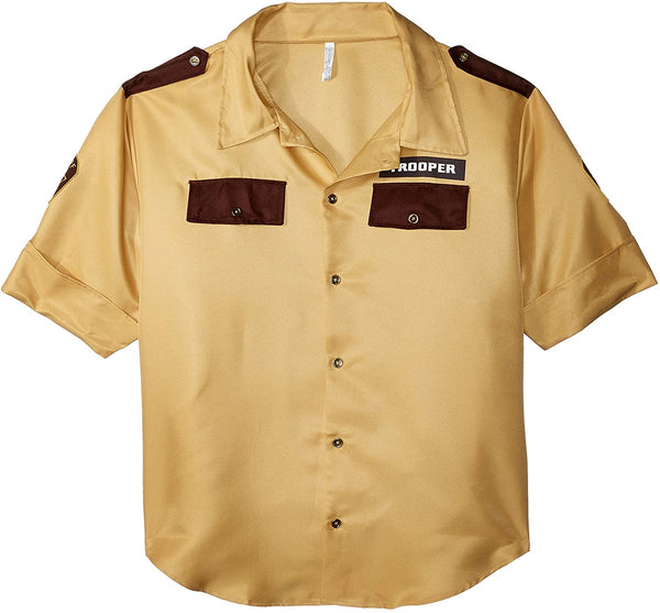 Amscan Awesome Police Shirt Boys Costume, Brown…