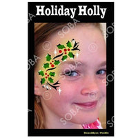 Christmas Holiday Holly - Profile Stencil
