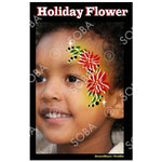 Christmas Holiday Flower Poinsetta - Profile Stencil