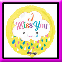 "18"" I Miss You Foil Balloon"