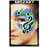 Mozart - Profile Stencil (music notes)