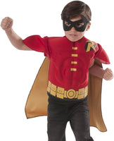 Rubies Costume Co Robin Muscle Chest Kids Halloween Costume Shirt with Cape and Mask