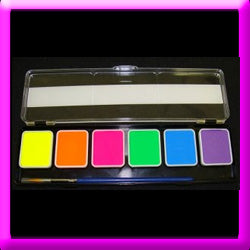Cheek Fx -  6 colour UV Glow Neon Pallet