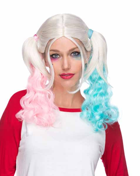 Blonde Pig Tails Harly Quinn Unicorn Fairy Hair Halloween Costume Accessory