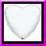 "18"" Ivory  Heart Foil Balloon"