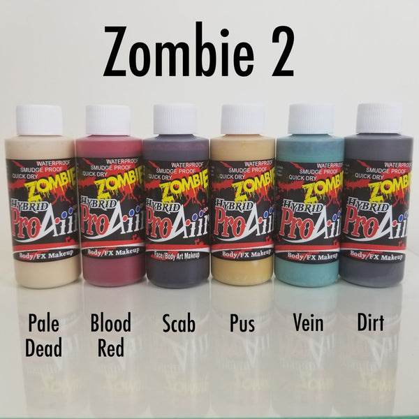 PROAIIR HYBRID WATERPROOF MAKEUP 2oz - ZOMBIE 2 COLOR 6 PACK
