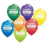 "Rainbow Happy Birthday Loops 11"" Latex Balloon"